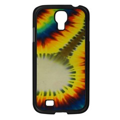 Red Blue Yellow Green Medium Rainbow Tie Dye Kaleidoscope Opaque Color Samsung Galaxy S4 I9500/ I9505 Case (Black)