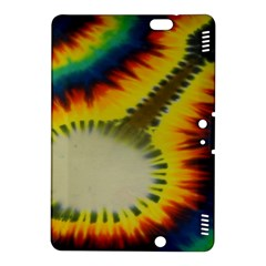 Red Blue Yellow Green Medium Rainbow Tie Dye Kaleidoscope Opaque Color Kindle Fire HDX 8.9  Hardshell Case