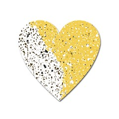Spot Polka Dots Orange Black Heart Magnet