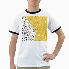 Spot Polka Dots Orange Black Ringer T-Shirts