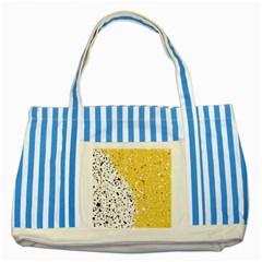 Spot Polka Dots Orange Black Striped Blue Tote Bag
