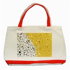 Spot Polka Dots Orange Black Classic Tote Bag (Red)