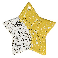 Spot Polka Dots Orange Black Star Ornament (Two Sides)