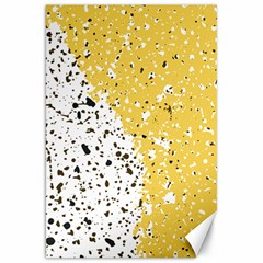 Spot Polka Dots Orange Black Canvas 20  x 30
