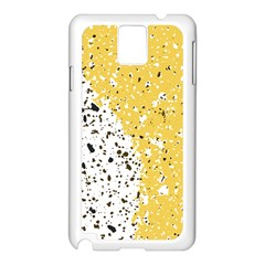 Spot Polka Dots Orange Black Samsung Galaxy Note 3 N9005 Case (White)
