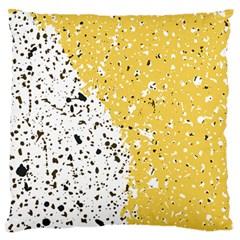 Spot Polka Dots Orange Black Standard Flano Cushion Case (Two Sides)