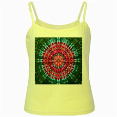 Red Blue Tie Dye Kaleidoscope Opaque Color Circle Yellow Spaghetti Tank