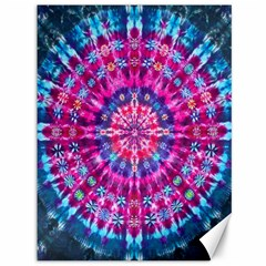 Red Blue Tie Dye Kaleidoscope Opaque Color Circle Canvas 36  X 48