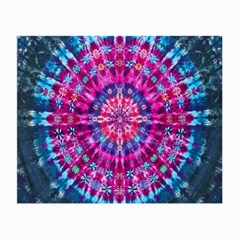 Red Blue Tie Dye Kaleidoscope Opaque Color Circle Small Glasses Cloth (2-Side)