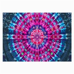 Red Blue Tie Dye Kaleidoscope Opaque Color Circle Large Glasses Cloth