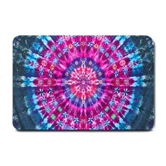 Red Blue Tie Dye Kaleidoscope Opaque Color Circle Small Doormat