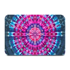 Red Blue Tie Dye Kaleidoscope Opaque Color Circle Plate Mats