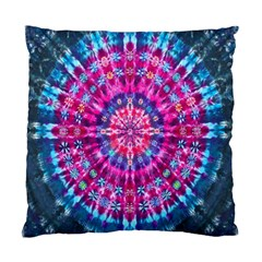 Red Blue Tie Dye Kaleidoscope Opaque Color Circle Standard Cushion Case (Two Sides)
