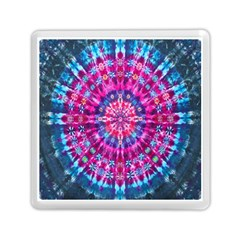 Red Blue Tie Dye Kaleidoscope Opaque Color Circle Memory Card Reader (Square)