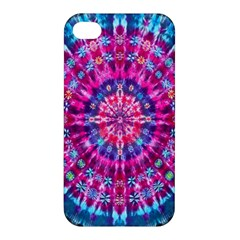 Red Blue Tie Dye Kaleidoscope Opaque Color Circle Apple iPhone 4/4S Hardshell Case