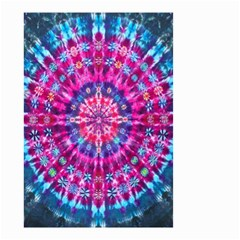 Red Blue Tie Dye Kaleidoscope Opaque Color Circle Small Garden Flag (Two Sides)