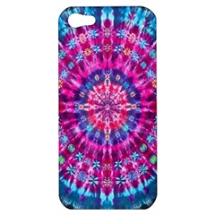 Red Blue Tie Dye Kaleidoscope Opaque Color Circle Apple iPhone 5 Hardshell Case