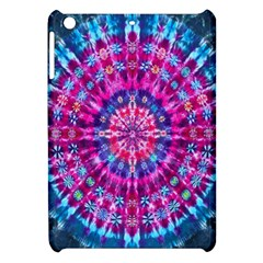Red Blue Tie Dye Kaleidoscope Opaque Color Circle Apple iPad Mini Hardshell Case