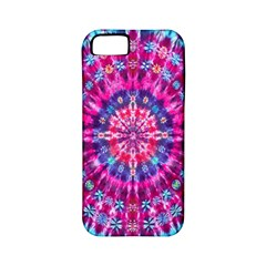 Red Blue Tie Dye Kaleidoscope Opaque Color Circle Apple iPhone 5 Classic Hardshell Case (PC+Silicone)