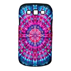Red Blue Tie Dye Kaleidoscope Opaque Color Circle Samsung Galaxy S III Classic Hardshell Case (PC+Silicone)