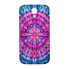 Red Blue Tie Dye Kaleidoscope Opaque Color Circle Samsung Galaxy S4 I9500/I9505  Hardshell Back Case