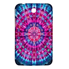 Red Blue Tie Dye Kaleidoscope Opaque Color Circle Samsung Galaxy Tab 3 (7 ) P3200 Hardshell Case