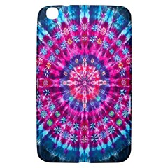 Red Blue Tie Dye Kaleidoscope Opaque Color Circle Samsung Galaxy Tab 3 (8 ) T3100 Hardshell Case
