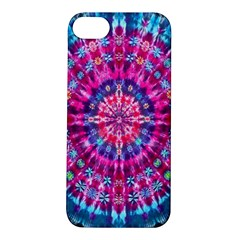Red Blue Tie Dye Kaleidoscope Opaque Color Circle Apple iPhone 5S/ SE Hardshell Case