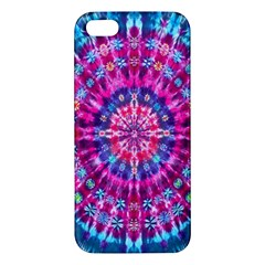 Red Blue Tie Dye Kaleidoscope Opaque Color Circle iPhone 5S/ SE Premium Hardshell Case