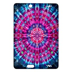 Red Blue Tie Dye Kaleidoscope Opaque Color Circle Amazon Kindle Fire HD (2013) Hardshell Case