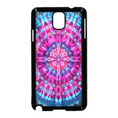 Red Blue Tie Dye Kaleidoscope Opaque Color Circle Samsung Galaxy Note 3 Neo Hardshell Case (Black)