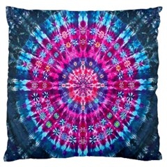 Red Blue Tie Dye Kaleidoscope Opaque Color Circle Standard Flano Cushion Case (one Side)