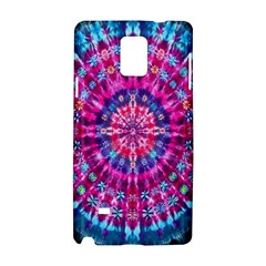 Red Blue Tie Dye Kaleidoscope Opaque Color Circle Samsung Galaxy Note 4 Hardshell Case