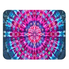 Red Blue Tie Dye Kaleidoscope Opaque Color Circle Double Sided Flano Blanket (Large)