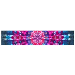 Red Blue Tie Dye Kaleidoscope Opaque Color Circle Flano Scarf (small)