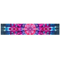 Red Blue Tie Dye Kaleidoscope Opaque Color Circle Flano Scarf (Large)