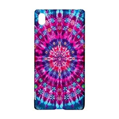 Red Blue Tie Dye Kaleidoscope Opaque Color Circle Sony Xperia Z3+