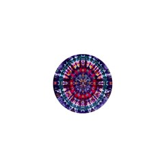 Red Purple Tie Dye Kaleidoscope Opaque Color 1  Mini Magnets