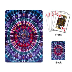Red Purple Tie Dye Kaleidoscope Opaque Color Playing Card
