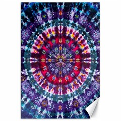 Red Purple Tie Dye Kaleidoscope Opaque Color Canvas 20  x 30
