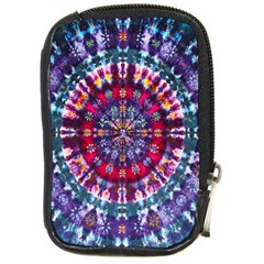 Red Purple Tie Dye Kaleidoscope Opaque Color Compact Camera Cases