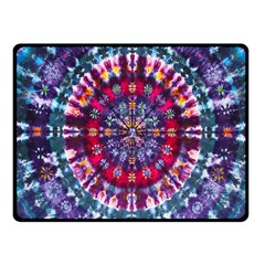 Red Purple Tie Dye Kaleidoscope Opaque Color Fleece Blanket (Small)