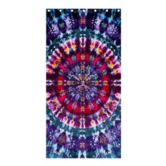 Red Purple Tie Dye Kaleidoscope Opaque Color Shower Curtain 36  x 72  (Stall)