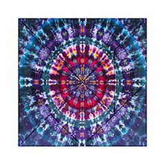 Red Purple Tie Dye Kaleidoscope Opaque Color Acrylic Tangram Puzzle (6  x 6 )