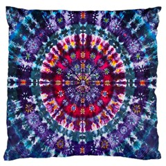 Red Purple Tie Dye Kaleidoscope Opaque Color Large Cushion Case (One Side)