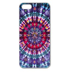 Red Purple Tie Dye Kaleidoscope Opaque Color Apple Seamless iPhone 5 Case (Clear)