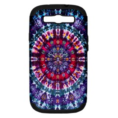 Red Purple Tie Dye Kaleidoscope Opaque Color Samsung Galaxy S III Hardshell Case (PC+Silicone)