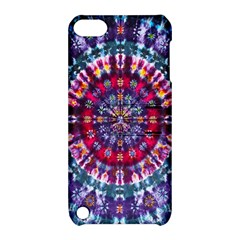 Red Purple Tie Dye Kaleidoscope Opaque Color Apple iPod Touch 5 Hardshell Case with Stand