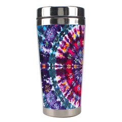 Red Purple Tie Dye Kaleidoscope Opaque Color Stainless Steel Travel Tumblers