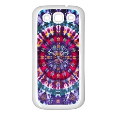 Red Purple Tie Dye Kaleidoscope Opaque Color Samsung Galaxy S3 Back Case (White)